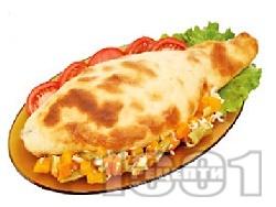 Рибник с шаран увит в тесто с плънка от лук, орехи, спанак и босилек печен на фурна за Никулден - снимка на рецептата